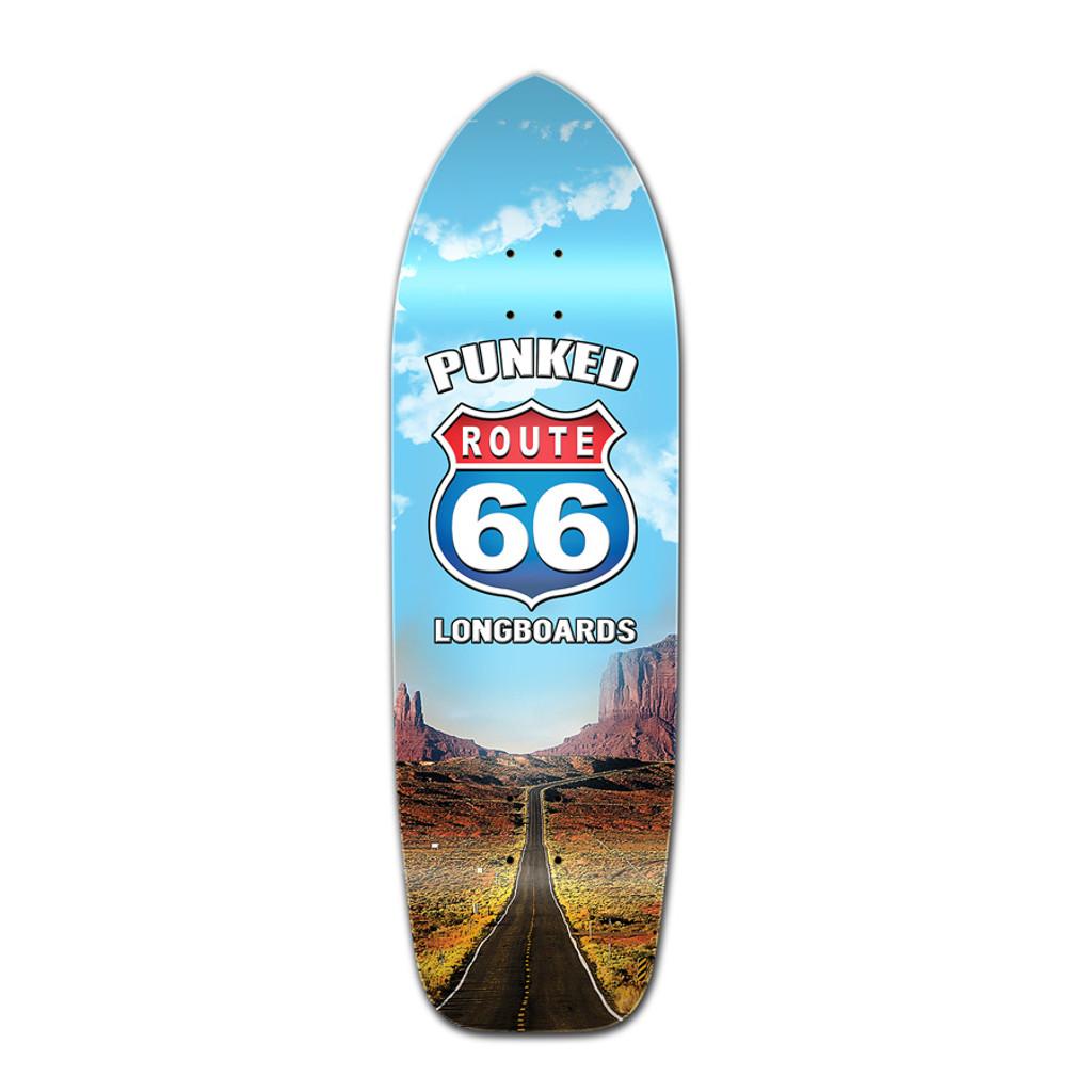 Old School Longboard Deck -Route 66 Series - The Run