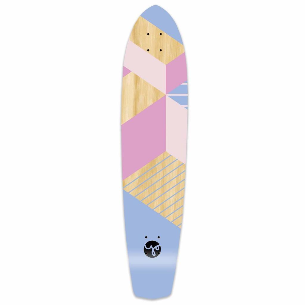 Slimkick Longboard Deck - Geometric Series - Purple
