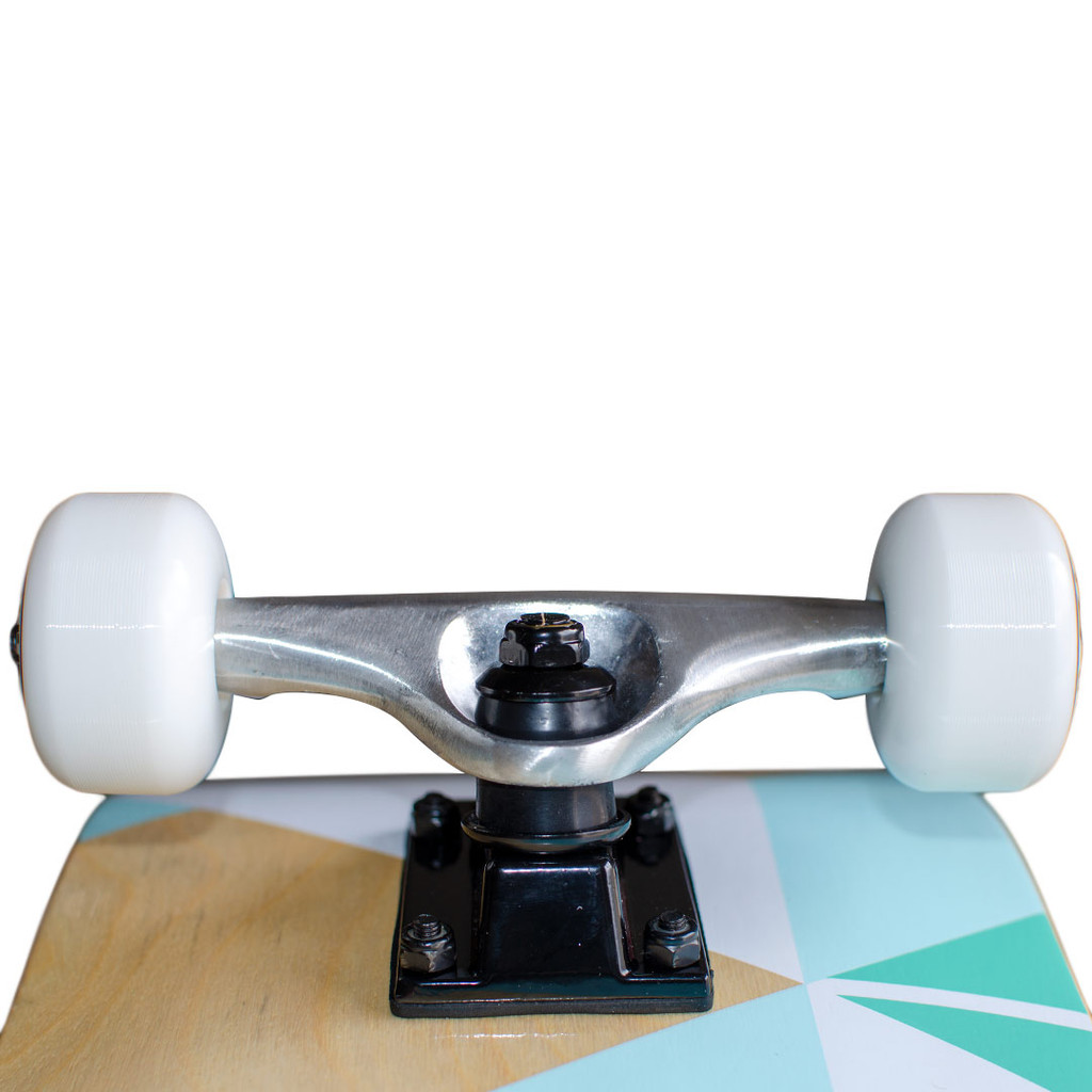 """Yocaher Graphic Skateboard 7.75"""" Complete - Geometric Series - Green"""