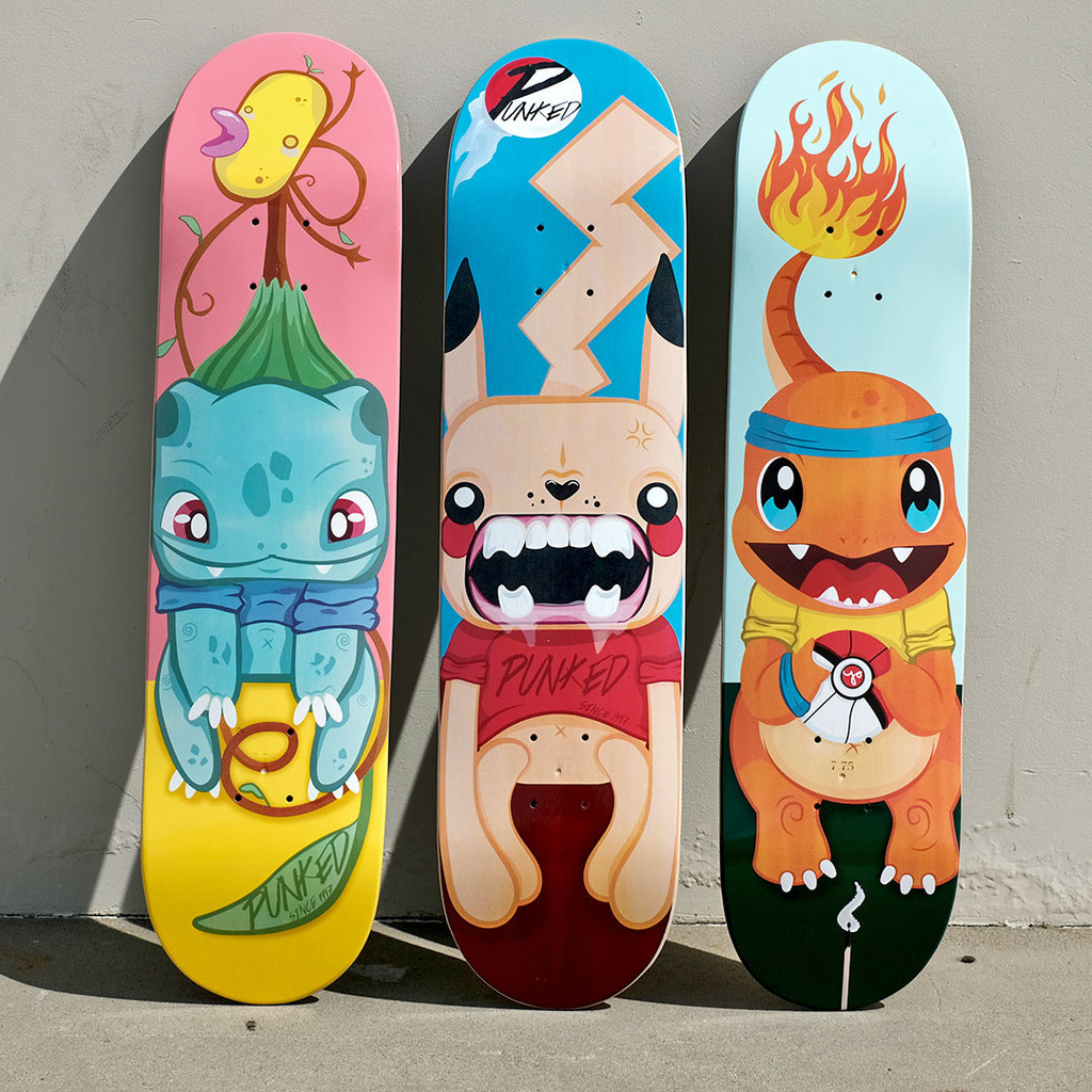 Yocaher Graphic Skateboard Deck  - PIKA Series - Bulbi