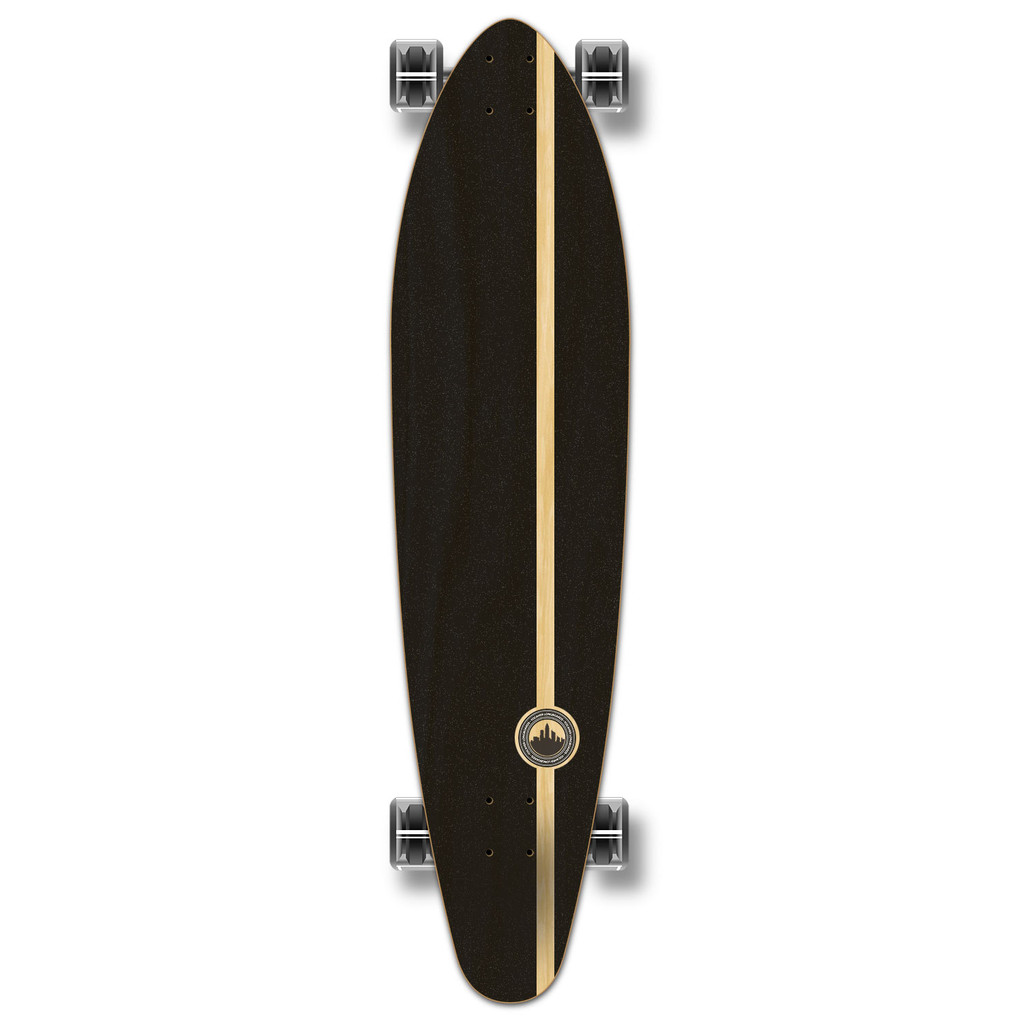 YOCAHER Kicktail Longboard Complete - Earth Series - Mountain