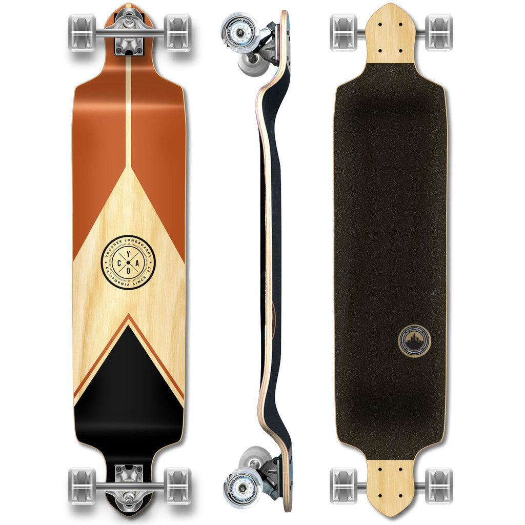 YOCAHER Drop Down Longboard Complete - Earth Series - Mountain
