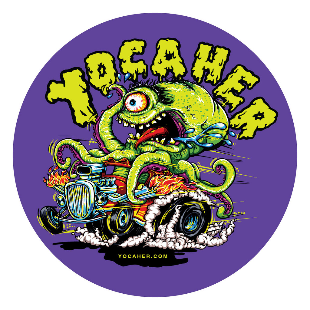 Yocaher Hot Rod Sticker