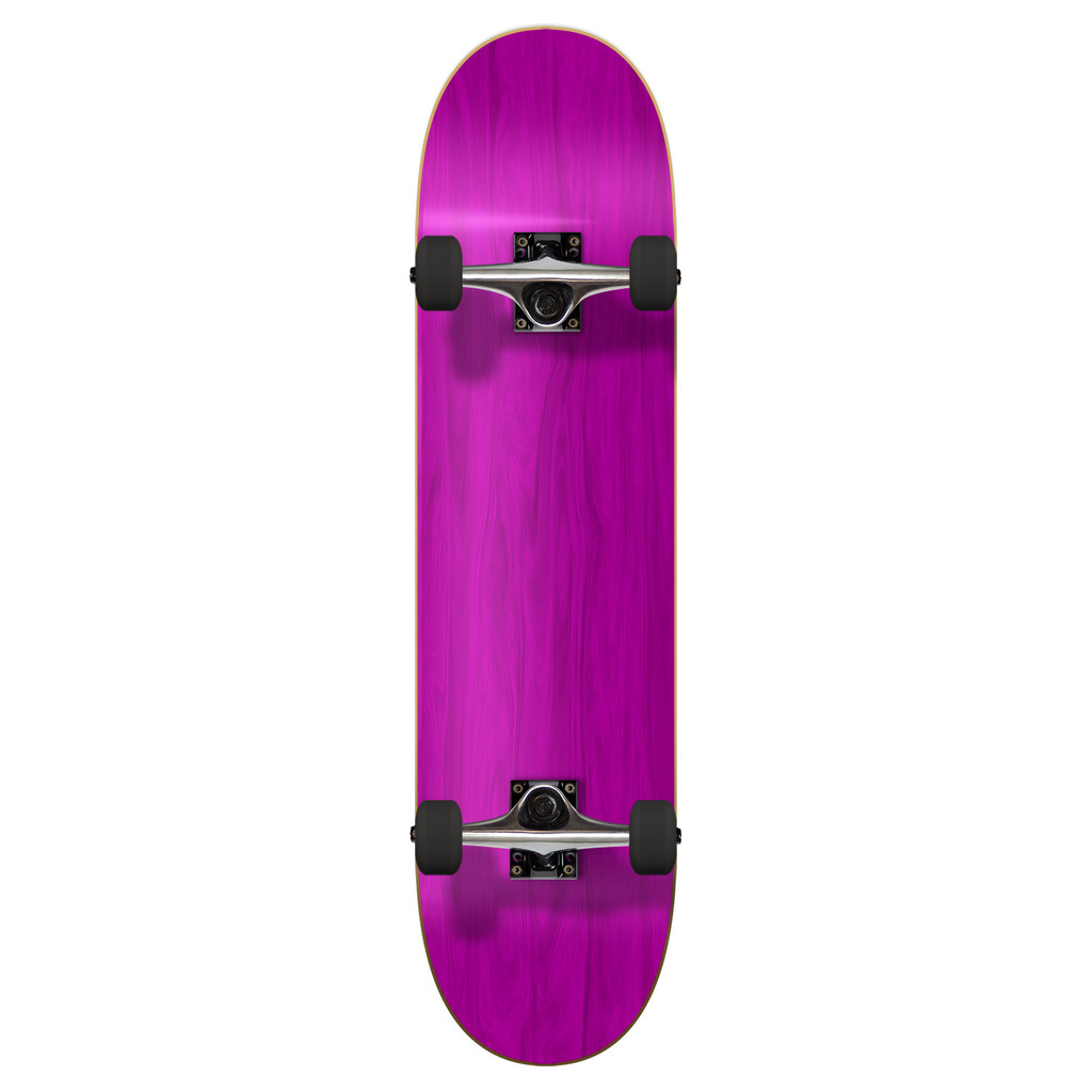 """Yocaher Blank 7.75"""" Complete Skateboard - Stained Red Violet    **2020 Limited Edition**"""