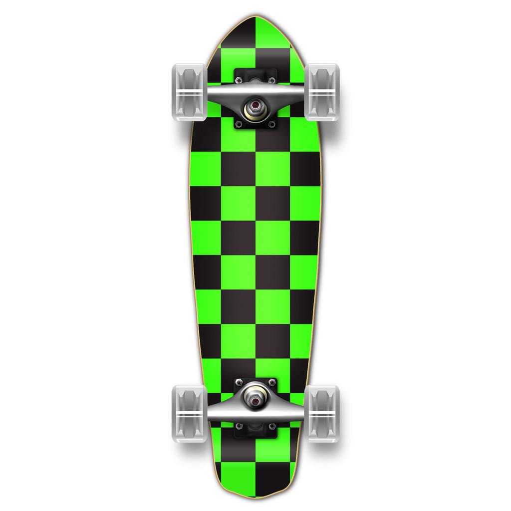 Micro Cruiser Complete - Checker Green
