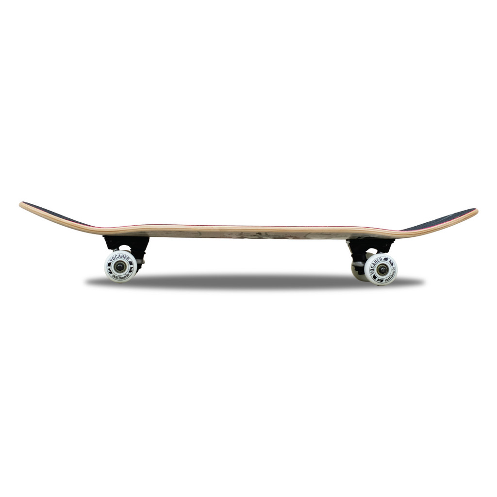 """Graphic Complete 7.75"""" Skateboard - Checker White"""
