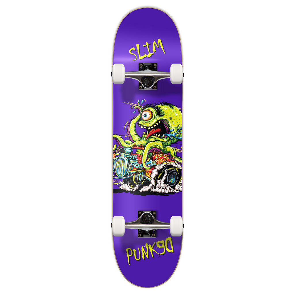"""Yocaher Graphic Complete 7.75"""" Skateboard - Hot Rod Slim"""