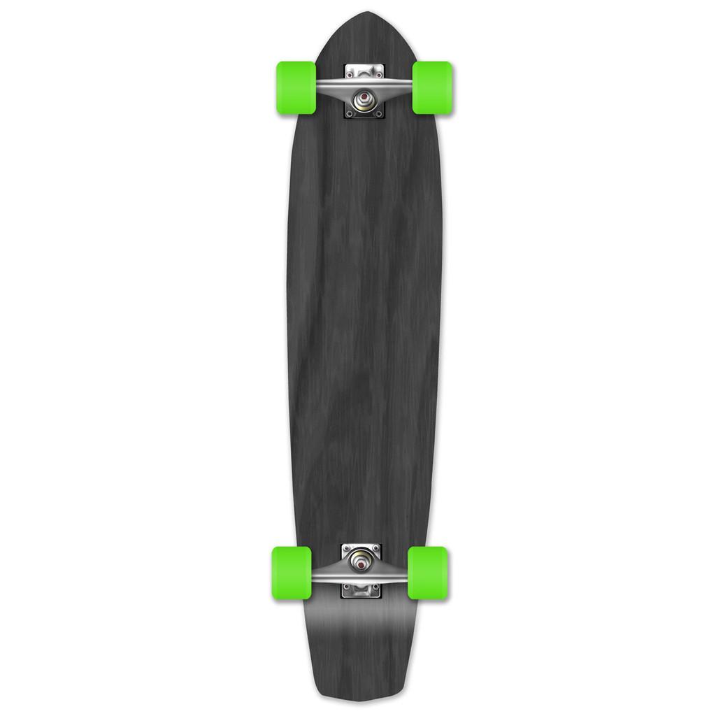 Slimkick Blank Longboard Complete - Stained Black