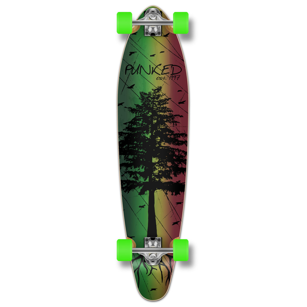 Kicktail Longboard Complete - In the Pines : Rasta