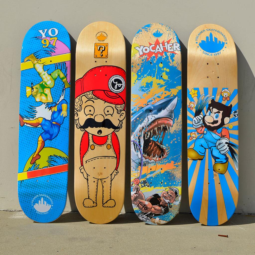 Graphic Complete Skateboard - Retro Series - Stache