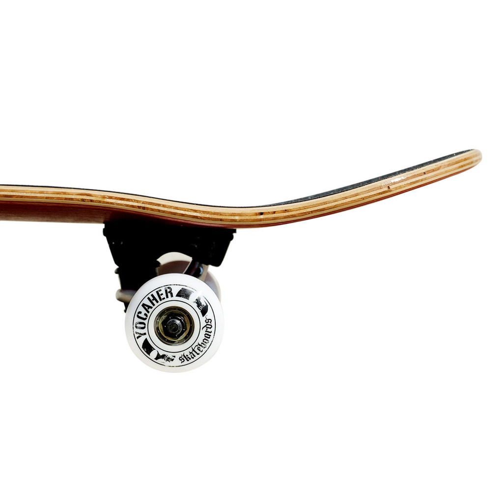 """Yocaher  Graphic Complete 7.75"""" Skateboard - Retro Series - Stache"""