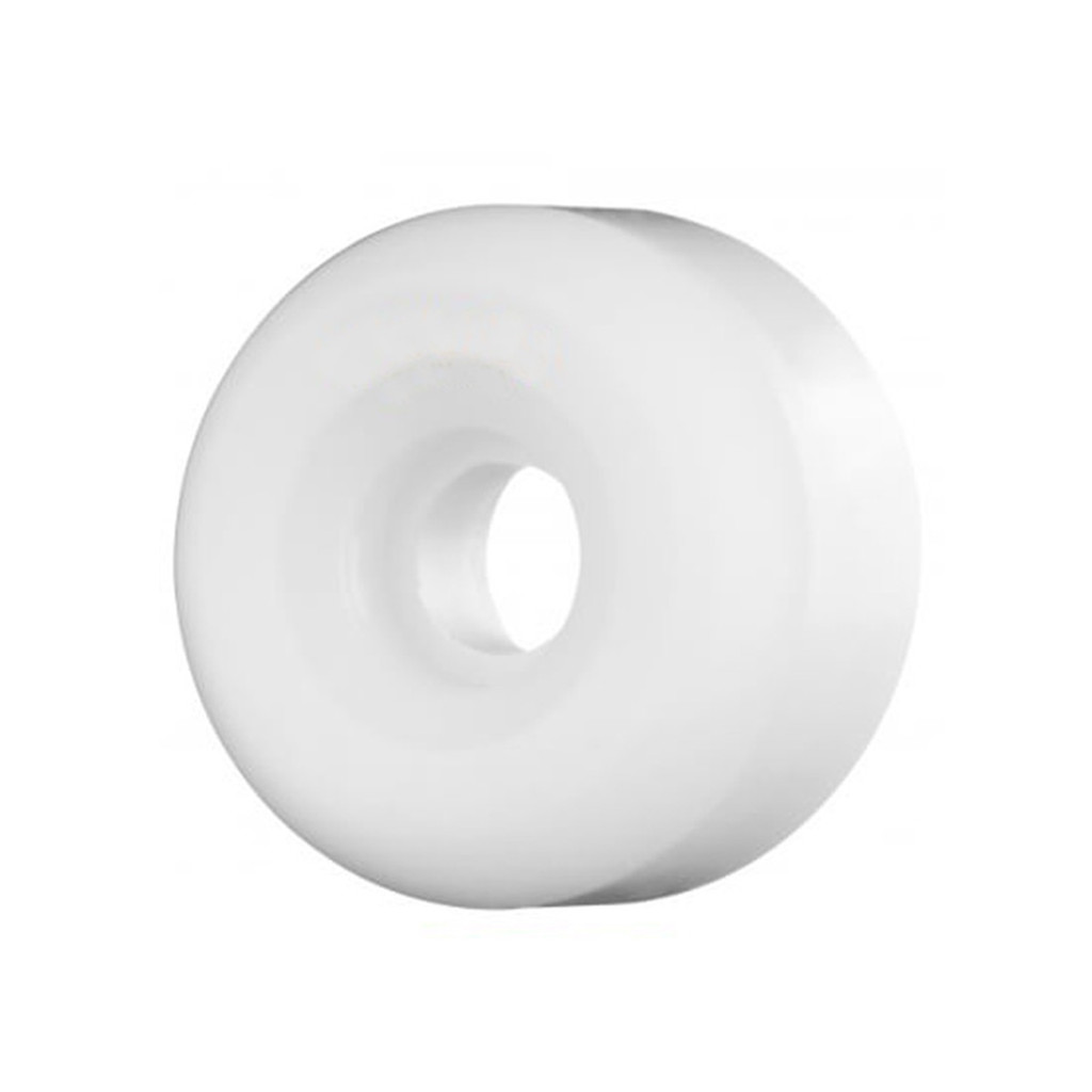 White BLANK Skateboard WHEELS 50mm (Set of 4)