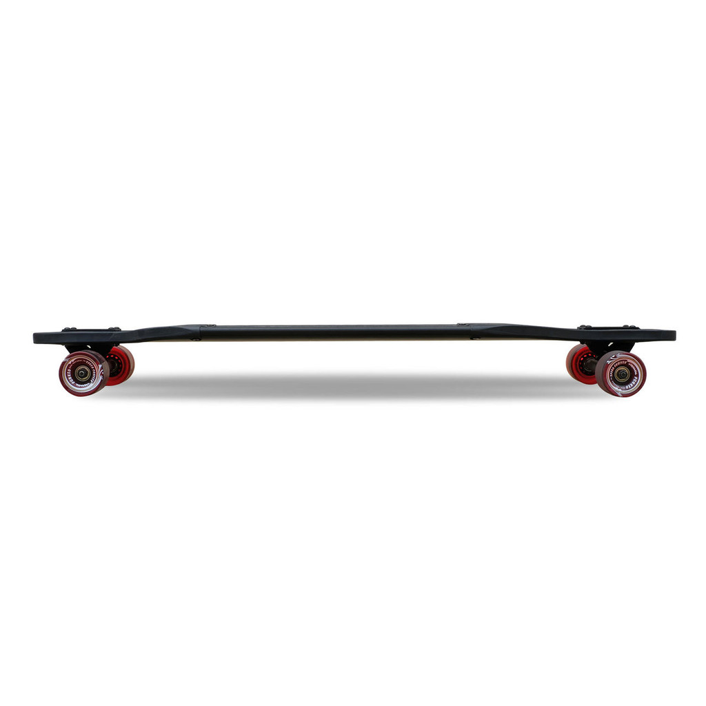Aluminum Drop Through Complete longboard - Black