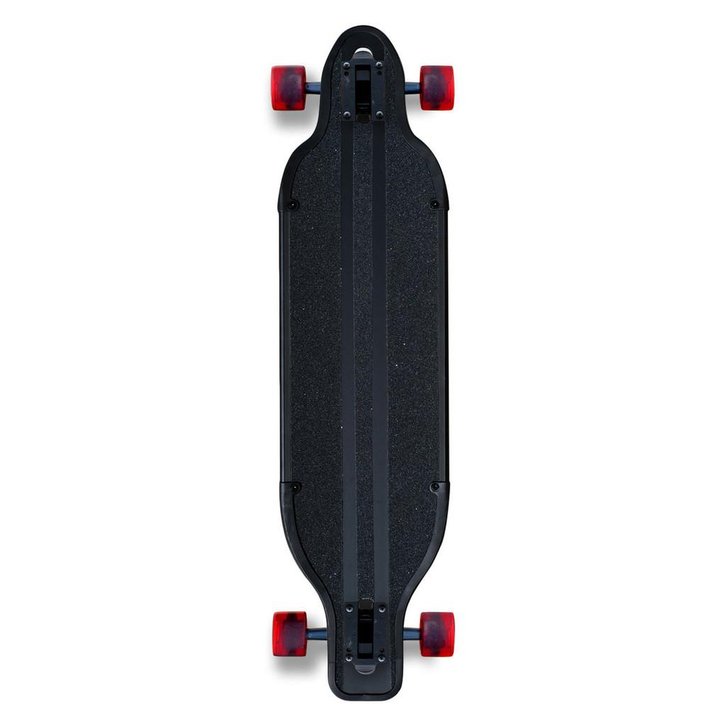 Aluminum Drop Through Complete longboard - Black