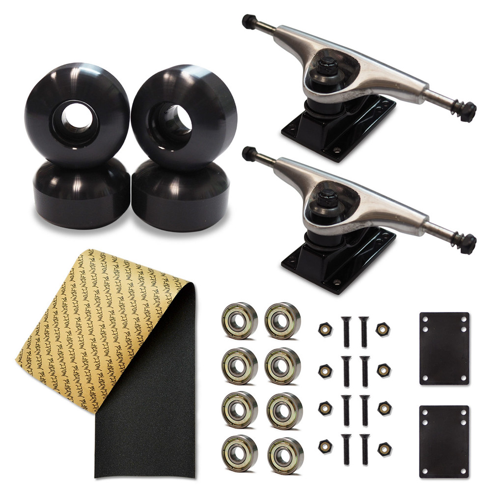 52mm Wheels and Trucks Skateboard Combo sets with Grip Tape