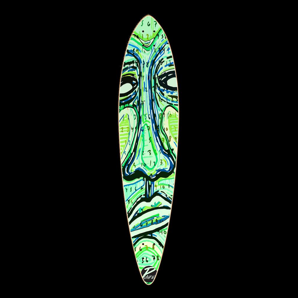Pintail Longboard Deck - Countdown