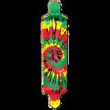Drop Down Tiedye Rasta Longboard Deck