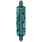 Drop Down Black Digital Wave Longboard Deck