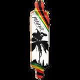 Drop Down Longboard Deck - Palm City Rasta