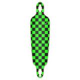 Drop Through Longboard Deck - Checker Green