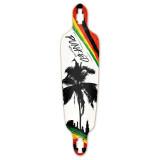 Drop Through Longboard Deck - Palm City Rasta