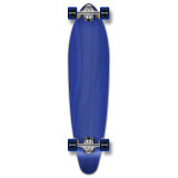 Kicktail Blank Longboard Complete - Stained Blue