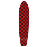 Slimkick Longboard Deck - Checker Red