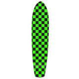 Slimkick Longboard Deck - Checker Green