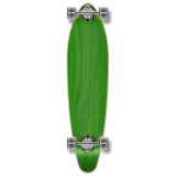 Kicktail Blank Longboard Complete - Stained Green