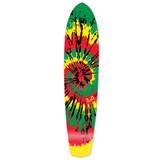 Slimkick Longboard Deck - Tiedye Rasta