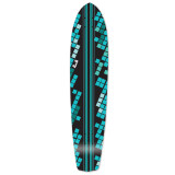 Slimkick Longboard Deck - Black Digital Wave