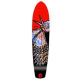 Slimkick Longboard Deck - The Bird Red