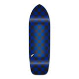 Old School Longboard Deck - Checker Blue