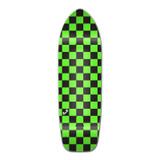 Old School Longboard Deck - Checker Green