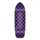 Old School Longboard Deck - Checker Purple