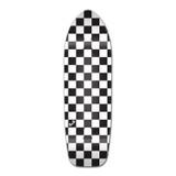 Old School Longboard Deck - Checker White