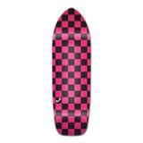 Old School Longboard Deck - Checker Pink