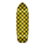 Old School Longboard Deck - Checker Yellow