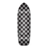 Old School Longboard Deck - Checker Silver