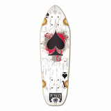 Mini Cruiser Ace of Spades Deck - White Ace