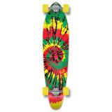 Kicktail Longboard Complete -  Tiedye Rasta
