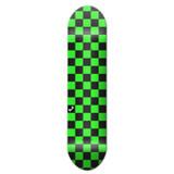 Graphic Skateboard Deck - Checker Green