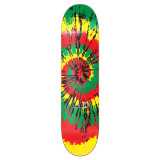 Graphic Skateboard Deck - Tiedye Rasta