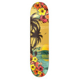 Graphic Tropical Day Skateboard Deck