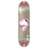 Graphic Ace Grey Skateboard Deck