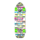 Old School Longboard Complete - Shades White