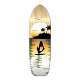 Old School Longboard Deck - Natural Surfer