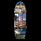 Old School Longboard Deck - San Francisco