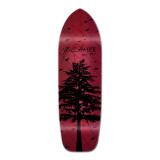 Old School Longboard Deck - In the Pines Red