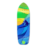 Old School Longboard Deck - Blue Surf's Up
